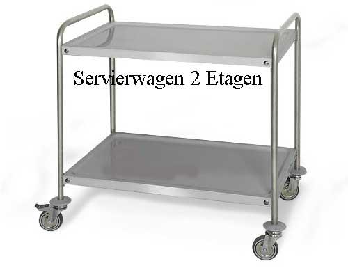 Servierwagen 2 Ebenen, Neuware
