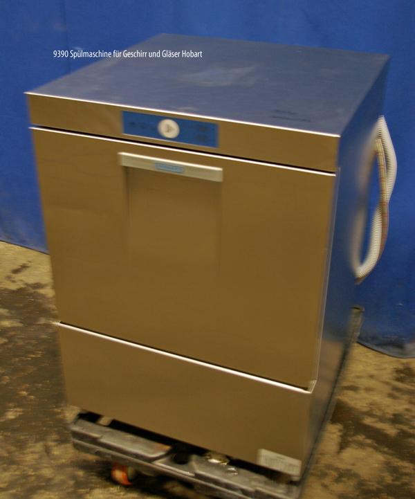 Spülmaschine für Geschirr und Gläser und Eurokisten, Frontlader, Hobart