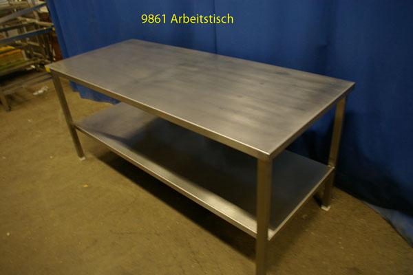 Arbeitstisch Edelstahl 190x80x86 cm