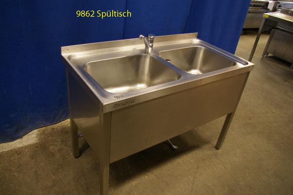 Spültisch CNS  2 Becken, 120x60x86 cm