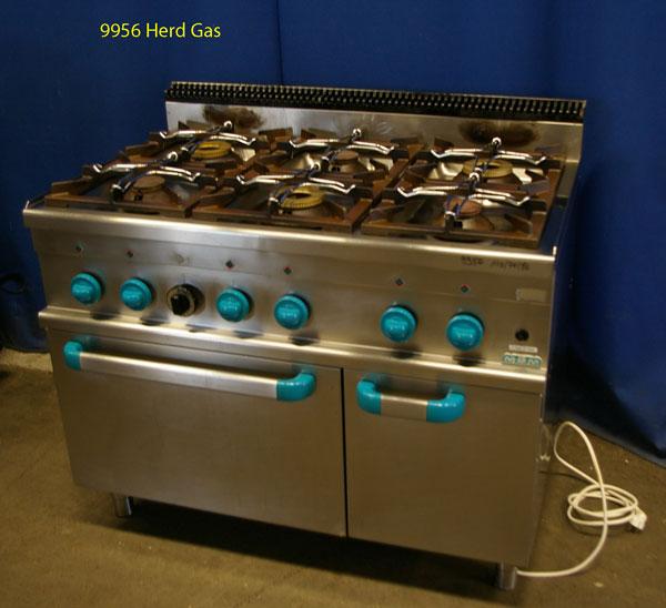 Herd 6 Flammen MBM  mit Backrohr Erdgas und Wärmeschrank