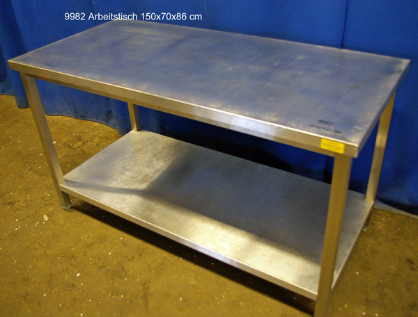 Arbeitstisch Edelstahl 150x70x86 cm