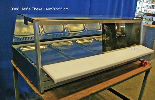 Heiße Theke 140x70x55 cm, Tischgerät, 4/1 GN