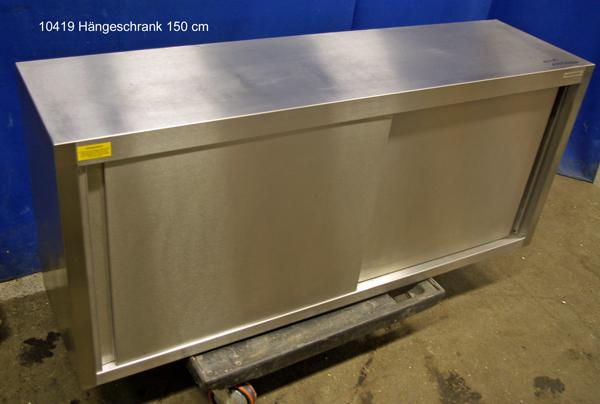 Hängeschrank Edelstahl  150x40x66 cm