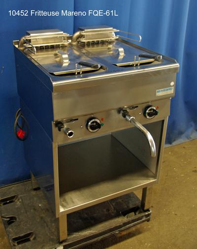 Fritteuse 2 Becken a  10-12  l Mareno FQE-61L, 400 V, Tischgerät mit Unterbau