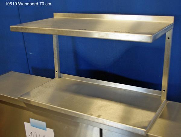 Wandbord Regal Edelstahl 70x35x40 cm