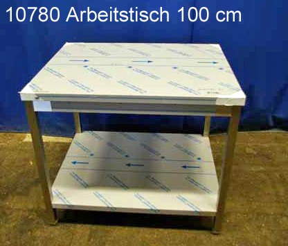 Arbeitstisch Edelstahl 100x80x85 cm