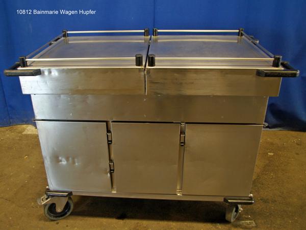 Bainmarie Edelstahl 3x1/1 GN (20 cm tief) mit 3x Wärmeschrank für 1/1 GN, Speisenausgabe Hupfer SPTW-3/EBF-S