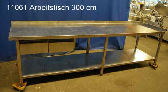 Arbeitstisch Edelstahl 300x80x86 cm