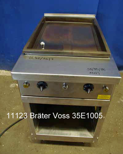 Bräter Voss Typ 35 E 1005 B, Bratplatte, Standgerät, 50x90x86 cm