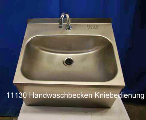 Handwaschbecken Edelstahl Kniebedienung 55x45x30 cm
