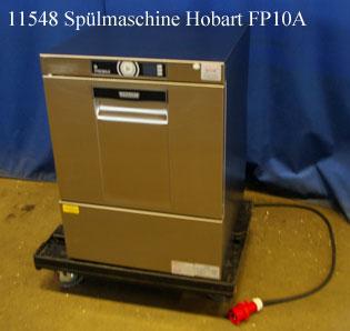 Spülmaschine Hobart FP10A, Premax, Frontlader, 400V, für Geschirr und Gläser