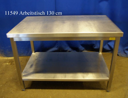 Arbeitstisch Edelstahl 130x80x86 cm