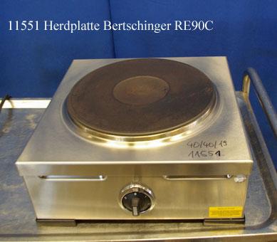 Herd 1 Platte, Bertschinger RE90C, Tischgerät 400 V