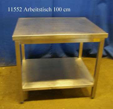 Arbeitstisch Edelstahl 100x80x90 cm