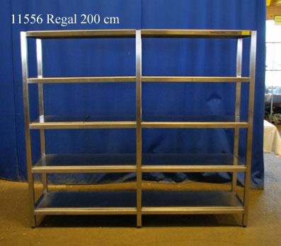 Regal Edelstahl 200x50x180 cm